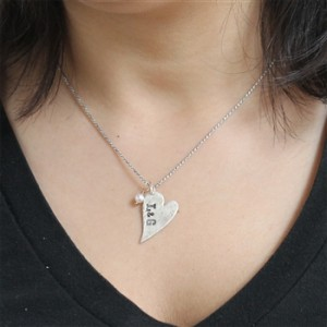 isabelle grace distressed heart necklace