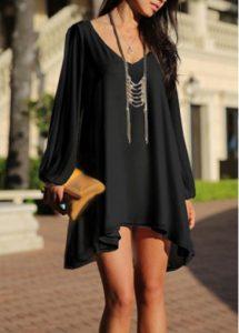 vneck dress