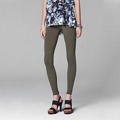 Vera Wang Solid Leggings