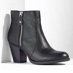 Vera Wang Zipper Ankle Boots